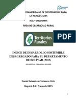 INDICE DE DESARROLLO SOSTENIBLE BOLÍVAR (2015)