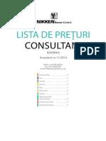 Lista de Preţuri Consultant 26-01-15