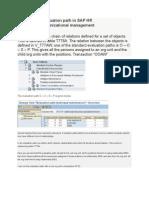 Evaluation Path in SAP HR Organizational