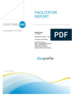ED Group Facilitator Report