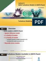Fluent-Adv Turbulence 15.0 L02 Rans Models