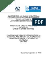 Primer Informe Monitoreo Deptal 2013 Final