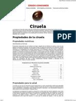 Ciruela _ Guía de Frutas EROSKI CONSUMER