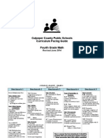4th grade math curriculum guide june 2014
