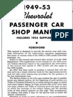 1949 - 1954 Chevrolet Chevy Shop Manual