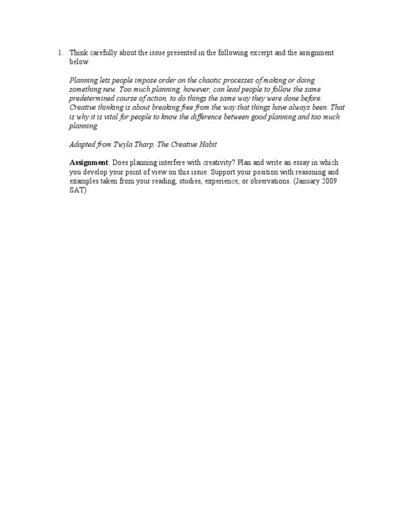 Sat essay prompts 2012