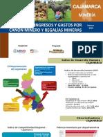 GPC - Ingresos y gastos por canon minero- CAJAMARCA