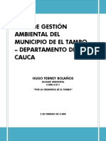 Plan Gestion Ambiental Cauca