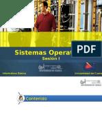 CAPITULO II Sistemas Operativos Sesion I