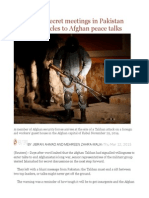 Exclusive - Secret Meetings in Pakistan Expose Obstacles to Afghan Peace Talks