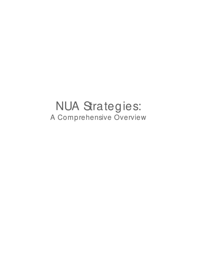 Nua Strategies Overview Reading Comprehension Vocabulary