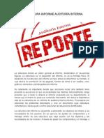 Estructura Informe Auditoría Interna