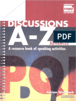 Adrian Wallwork Discussions a-Z Advanced Teachers Book a Resource Book of Speaking Activities Cambridge Copy Collection 1997