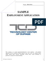 sample job application
