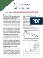 Removing Nitrogen