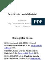 1ª Aula - Resistência Dos Materiais I