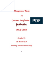 Management Thesis - Customer Satisfaction at Fabindia