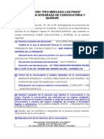 Declaracion Jurada - Eleccion Concejo Directivo - 2015 - Asoc Mercado Los Pinos