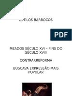 ESTILOS BARROCOS