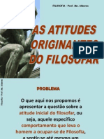 Atitudes Originantes Do Filosofar_slide