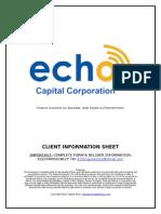 ECC CIS Form Customer Information Sheet
