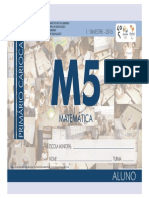 Matemática - 5º Ano - 1º Bimestre - 2015