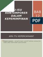 Presentasi BAB 12 Isu-Isu Kontemporer Dalam Kepemimpinan