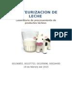 Informe 1 Laboratorio Lacteos Pasteurizacion