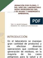 Contaminacion por metales pesados en laboratorio