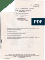 Cxc Electricalpaper 2 - 2001