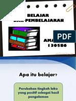 Belajar Pembelajaran Ppt (Amaliana 1305865)