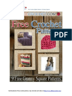 Granny Squares Crochet Afghan Patterns