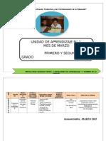 UNIDAD DE APRENDIZAJE MES DE MARZO 1grado.doc