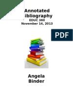 binder annotated bibliography