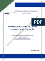 1 - Manual de Calidad Upn 213 Tehuacan