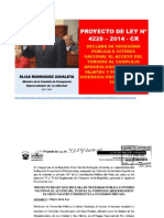 PROYECTO DE LEY 4229-2014-CR Congresista Elías Rodríguez Zavaleta