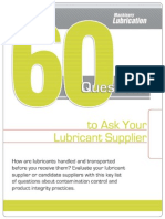60 Question for Lube Suppliers