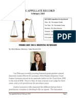 The Appellate Record February 2015