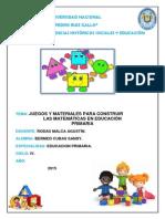 Juegos y Materiales Para Construir Las Matematicas