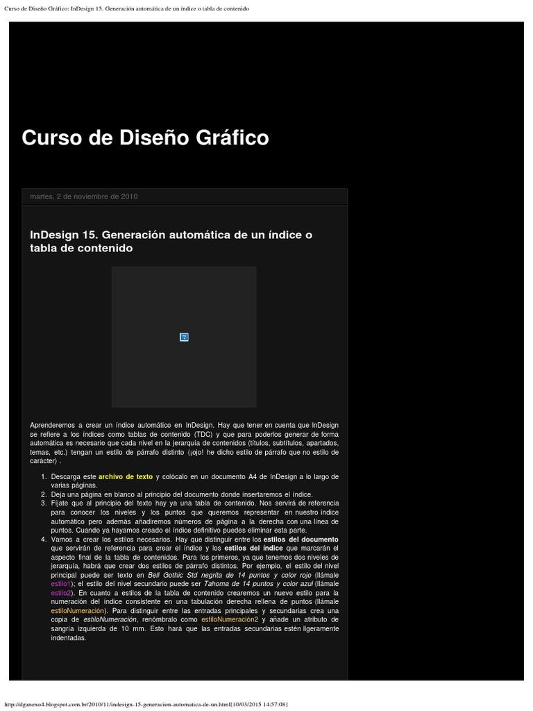 Curso de Diseño Gráfico_ InDesign 15. Generación Automática de Un ...