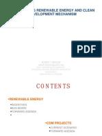 Incentivizing Renewable Energy and Clean Development Mechanism