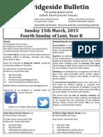 2015-03-15 - 4th Lent B