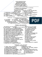 k.k.r`Sinstitution Mahabubnagar Physicsal Science Important Questions Class