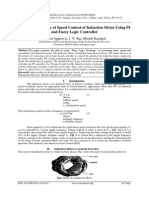 Comparative Study of Speed Control of Induction Motor Using PI and Fuzzy Logic Controller
