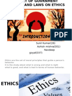 Impact of Govrnment Policies and Laws on Ethics
