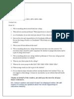 Coordinator Interview Questionnaire