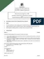 DP1 Material Selection