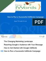 Run a Successfull Google Adword Campaign