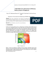 Analytical Review of Advance Optical Modulation Formats