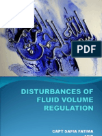 Distrubance of Fluid Vol. Regulation